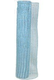 21in x 30ft Metallic Light Blue Oasis Mesh Ribbon/ Netting