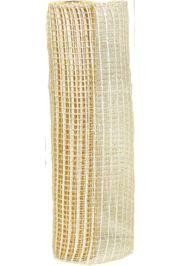 21in x 30ft Metallic Ivory Oasis Mesh Ribbon/ Netting
