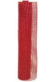 21in x 30ft Metallic Red Oasis Mesh Ribbon/ Netting