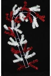 30in Long x 18in Wide Metallic Red/ White Candy Cane Work Form