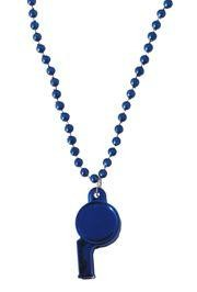 6mm 40in Blue Beads with Whistle