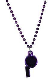 6mm 40in Purple Beads with Whistle