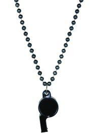 6mm 40in Navy Blue Beads with Whistle