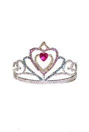 3 1/2in Tall x 6in Wide Multi Color Heart Tiara w/ Combs