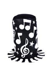 10 1/2in Tall x 11in Wide Musical Print Stovepipe Hat