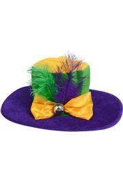 17in Wide x 5in Tall Ladies Wide Brimmed Mardi Gras Hat