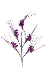36in Tall Purple Glitter Curly Spray