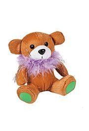 4 1/2in Tall Plush Mardi Gras Bear