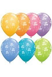 11in Happy Birthday Contemporary Latex Assorted Balloons