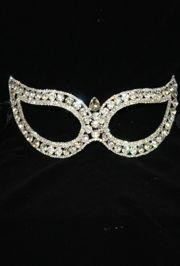 7in Wide x 2 1/2in Tall Rhinestone Eye Mask