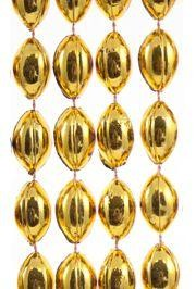 18mm 38in Gold Football Beads