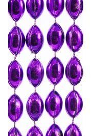 18mm 38in Purple Football Beads