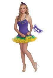 Mardi Gras Slip Dress w/ Attached Crinoline