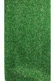 22in x 9ft Green Sponge Lurex Material