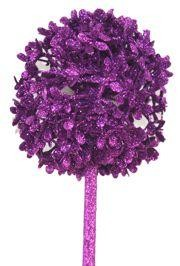 28in Tall Decorative Glittered Purple Centerpiece