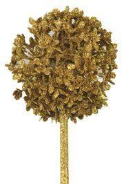 Decorative Glittered Gold Centerpiece