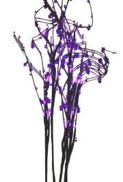 32in Tall Battery Operated Purple LED Light-up Branch w/ Acrylic Beads
