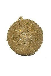 100mm Glittered Decorative Gold Ball Ornament