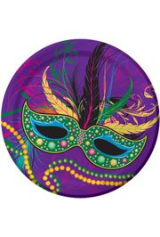 7in Mardi Gras Mask Luncheon Plates