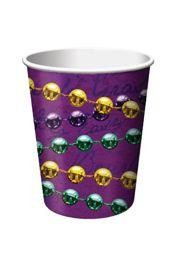 Mardi Gras Beads Paper Cups