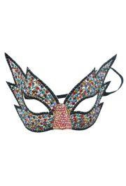 8in Wide x 5 1/2in Tall Multicolor Rhinestone Eye Mask