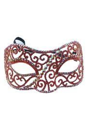 Red Rhinestone Eye Masquerade Mask