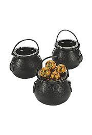 2 3/4in Plastic Black Candy/ Doubloons/ Coins Pot-O-Gold