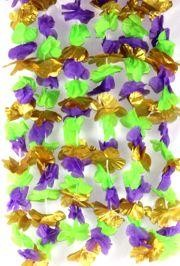 36in Mardi Gras Flower Lei