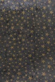 3ft x 100ft Black With Gold Stars Gossamer