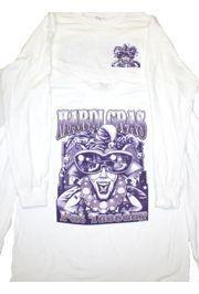 Mardi Gras Long Sleeve T-Shirt w/ Glittered Design Large Size