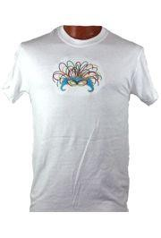Short Sleeve T-Shirt w/ Mask Design Embroidery Medium Size