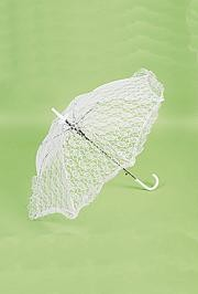 27in Long x 30in Wide White Lace Parasol/ Umbrella