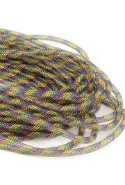 8mm x 30Yds Decor Metallic Mesh Tubing Mardi Gras Colors