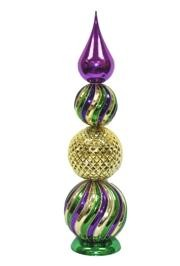 24in Tall Mardi Gras Finial Tree Decoration