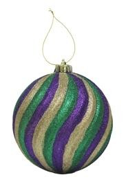 150mm Purple/ Green/ Gold Swirl Ball