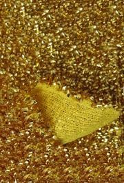 22in x 9ft Gold Sponge Lurex Material