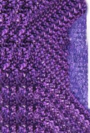 22in x 9ft Purple Sponge Lurex Material