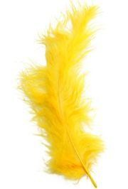 3in-7in Long Yellow Craft Feathers