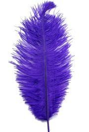 15in Ostrich Purple Feather/ Plume