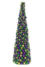 36in Tall Purple/ Green/ Gold Ball Tree