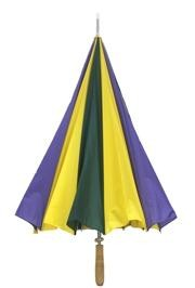 40in Long Nylon Golf Purple/ Green/ Gold Umbrella