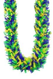 8-9 in Wide 6ft Long 120 grams Chandelle Boa Mardi Gras Mix