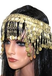 Cleopatra Head Piece/ Gold