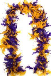 Purple/ Gold Feather Boa w/ Tinsel