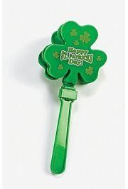 7 1/2in Tall x 3 1/4in Wide Plastic St Patricks Hand Clappers