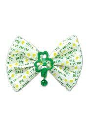 3 1/4in Tall x 4 1/2in Wide Kiss Me Im Irish Bow Tie