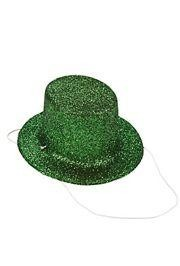 5in Wide x 2 1/2in Tall Mini St. Patricks Glitter Day Hats