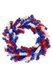 Elevated Pine Double Ring Patriotic Wreath Form
