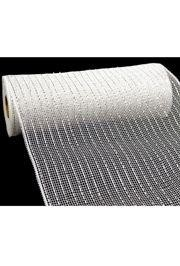 10in Wide x 30ft Long Poly Mesh Roll: Metallic White