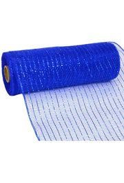 10in Wide x 30ft Long Poly Mesh Roll: Metallic Royal Blue